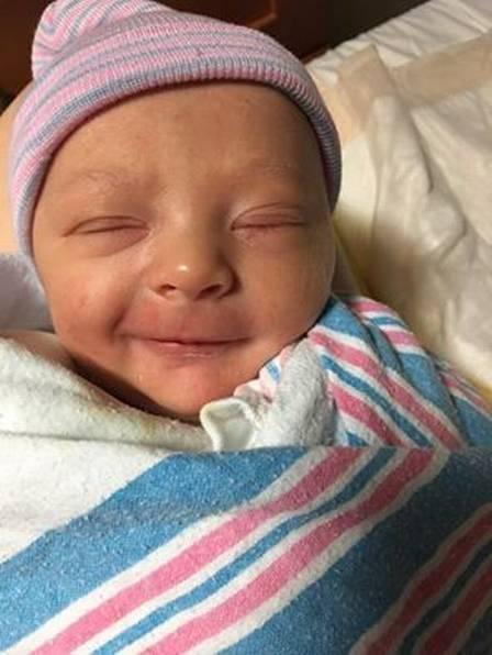Apesar da surpresa, o bebê nasceu saudável