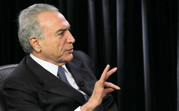 O atual presidente do Brasil, Michel Temer