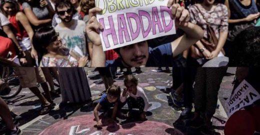 Haddad é recebido com agradecimentos em ato na Paulista