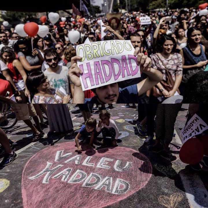 "Ato ""Valeu Haddad"" celebra prefeito na Paulista"