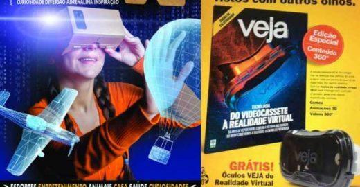 Veja diz que fez a 1ª revista com realidade virtual, mas não fez