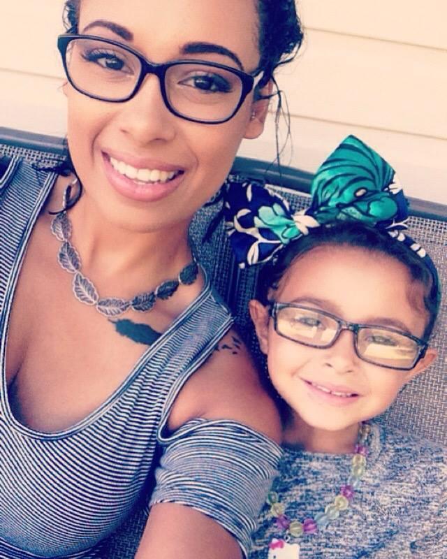 Audrey e sua filha
