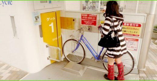 Se liga neste estacionamento de bikes subterrâneo do Japão