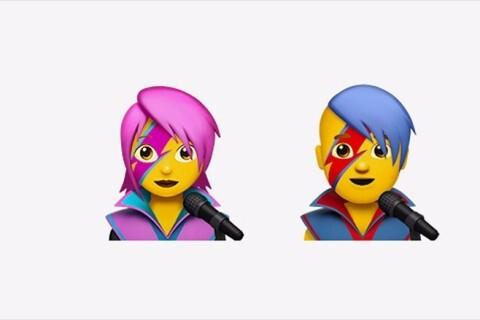 Os dois emojis criados em homenagem ao David Bowie