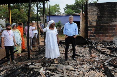 Em Brasília, o terreiro de candomblé Axé Oyá Bagan, no Paranoá, destruído após incêndio criminoso