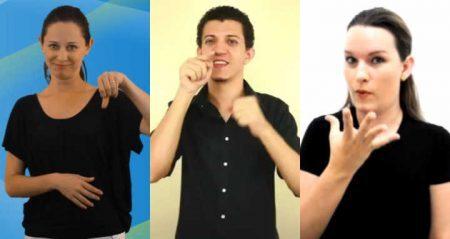 Aproveite para estudar a linguagem de Libras (Língua Brasileira de Sinais)