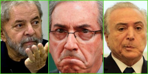 Lula, Cunha e Temer
