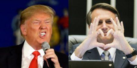 Montagem Trump e Bolsonaro