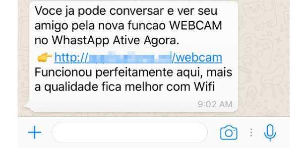 """Golpe promete """"função webcam"""" do WhatsApp entre usuários do iPhone"""