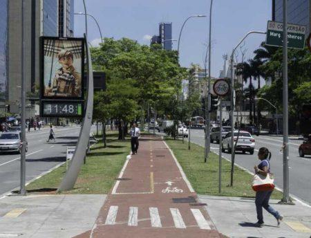 Ciclovia da Avenida Faria Lima tem ótima infraestrutura