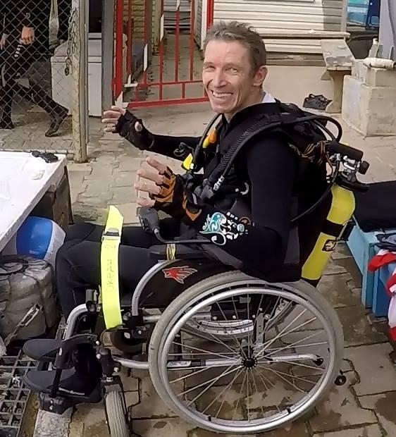 O mergulhador Igor Skikevich, de 51 anos