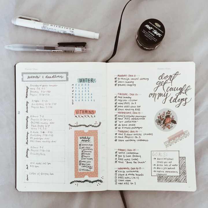 Fita adesiva colorida é uma forma fácil de decorar as páginas