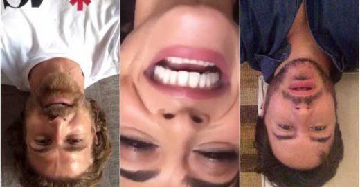 Famosos fazem vídeos de cabeça para baixo em prol de campanha