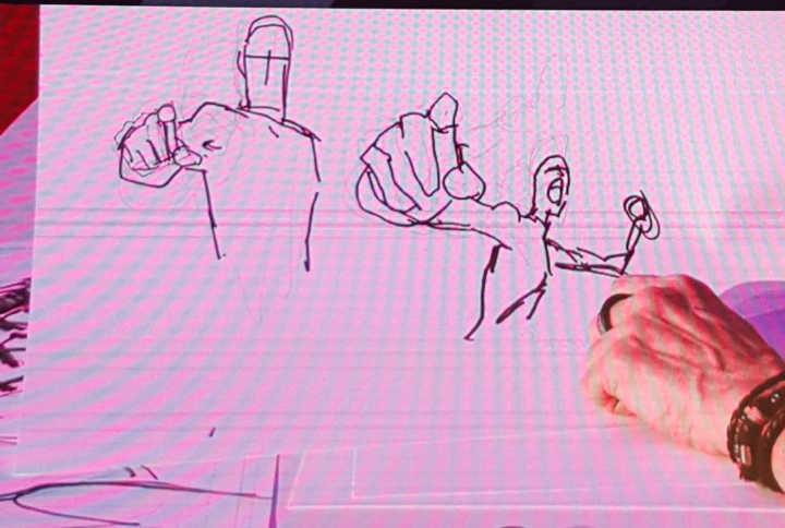 Bill Sienkiewicz fez este desenho para ilustrar a dica acima