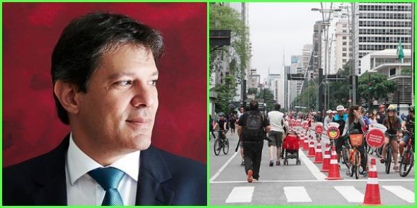 O atual prefeito de São Paulo, Fernando Haddad