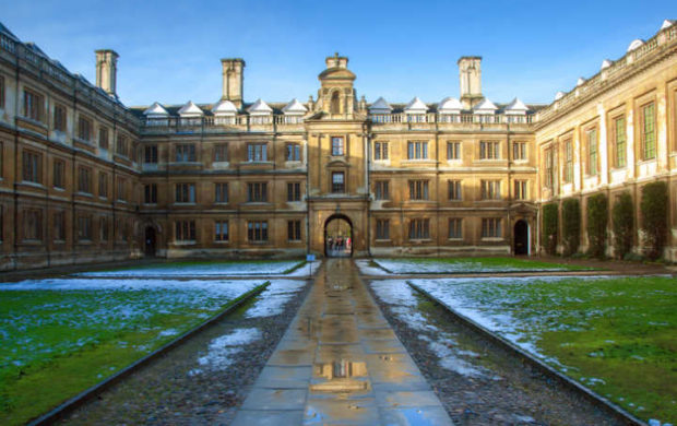 Old Court in Clare College, Cambridge University, England