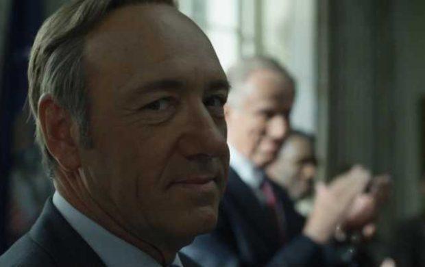 "Kevin Spacey como Frank Underwood de ""House of Cards""."