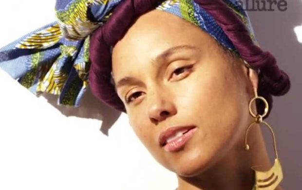 Alicia Keys no ensaio da revista Allure