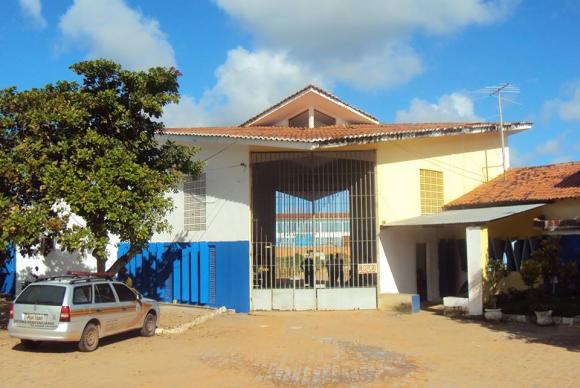 Entrada da Penitenciária Estadual de Alcaçuz, que teve princípio de motim