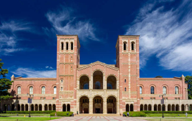 Los Angeles, United States - October 4, 2014: Royce Hall on the campus of UCLA. Royce Hall is one of four original buildings on UCLA's Westwood campus.