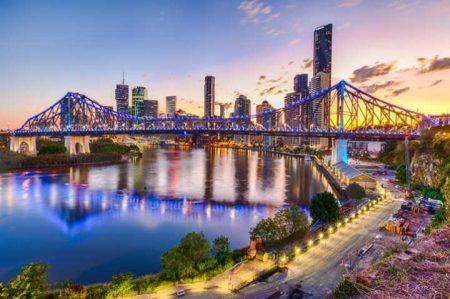 Cidade de Santa Lúcia, em Brisbane, na Austrália