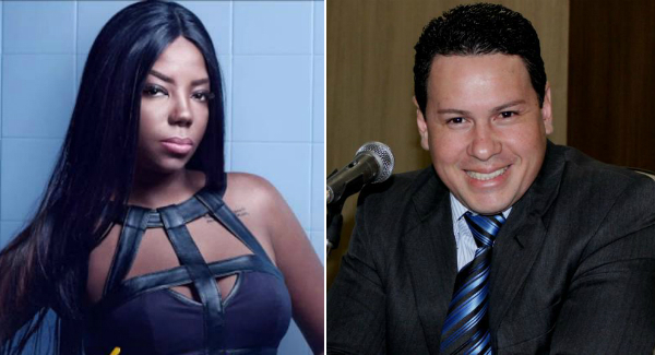 A cantora Ludmilla e o empresário Marcão do Povo