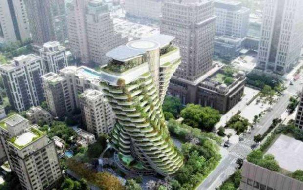A ideia do arquiteto é criar um floresta urbana em meio à cidade