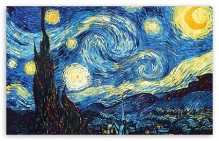 """A Noite Estrelada"", Van Gogh"