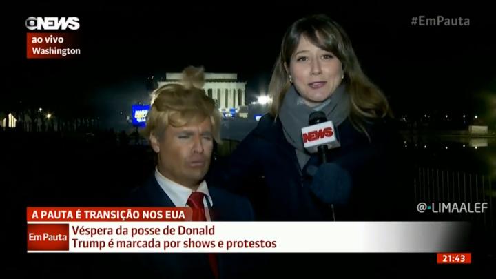 Repórter da Globo News é trollada por Vesgo