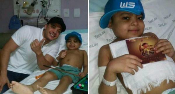 Morre o pequeno Wesley, que no fim do ano passado realizou o sonho de conhecer o ídolo, Wesley Safadão