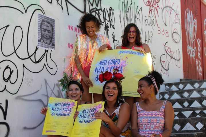 A campanha vai coletar relatos de abuso e agressão durante a folia