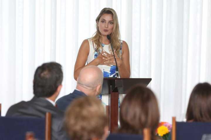 A primeira-dama Macela Temer durante reunião do Programa Criança Feliz