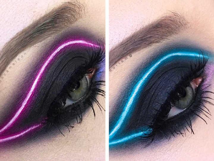 Favoritos Maquiagem com efeito neon é tendência no Instagram GM27