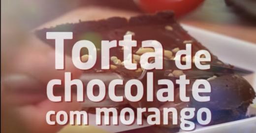 Torta Maravilha de chocolate com morangos