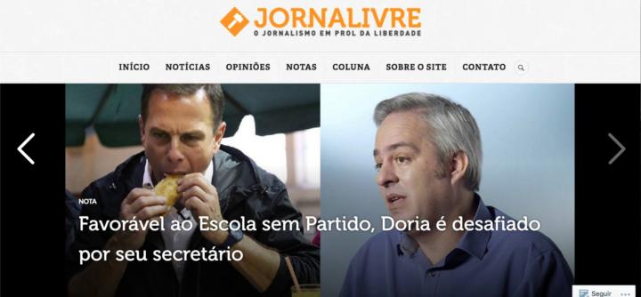 Algumas das notícias falsas disseminadas pelo JornaLivre