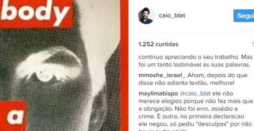 """Caio Blat justifica apoio a Mayer: 'Elogiei assumir o erro"""""""