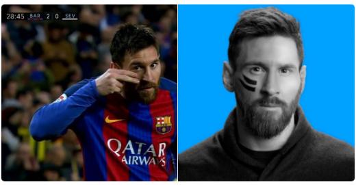 """Messi faz """"duplo gol"""" ao divulgar campanha de câncer infantil"""