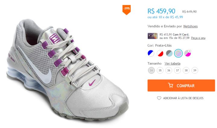 6715fd921d Diversos tênis da Nike estão com descontos que chegam a 30% de desconto