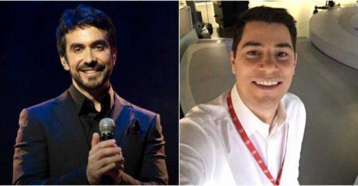 Fabio de Melo brinca com traje de Evaristo Costa em rede social