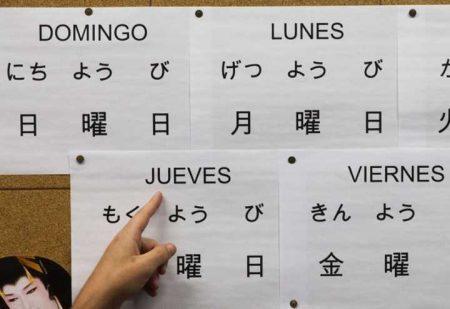 Quadro com tradução espanhol-japonês