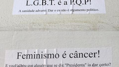 Show de preconceito: cartazes ofensivos são espalhados por UFPR