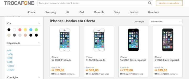 5dd4ab48ce3 Site vende iPhone seminovo em 10x sem juros com frete grátis