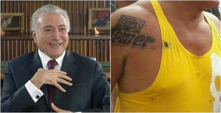 Resultado de imagem para deputado federal tatua 'Temer' no ombro (FOTO)