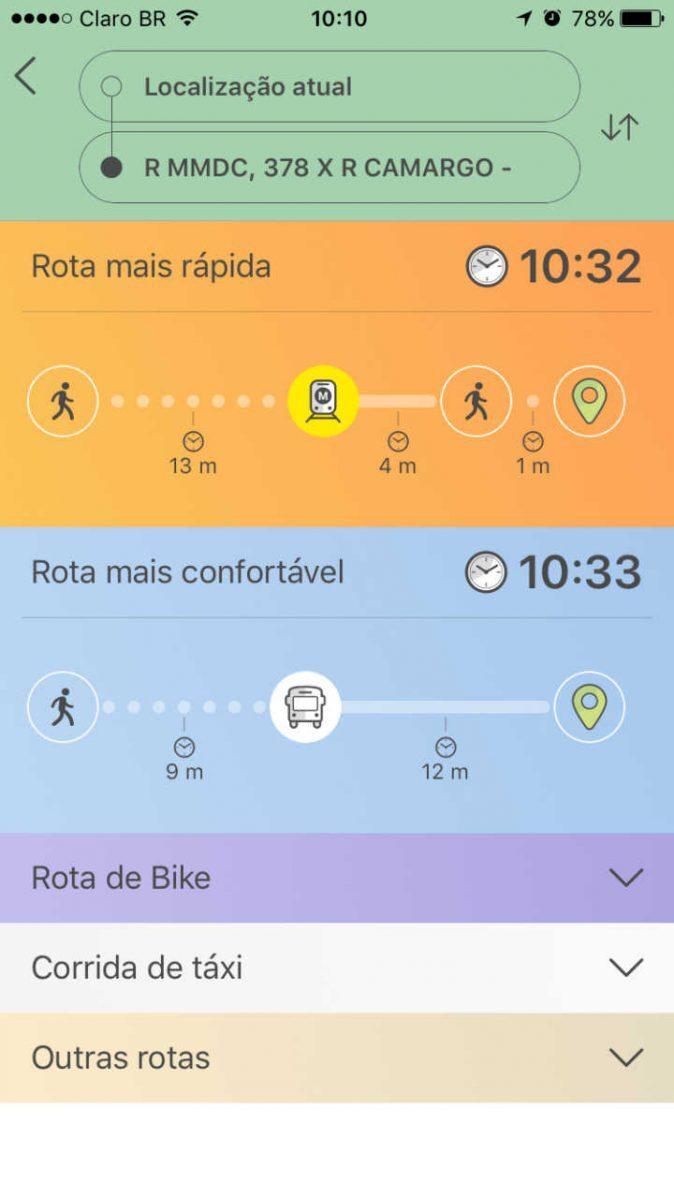 Plataforma informa o jeito mais rápido de chegar ao destino