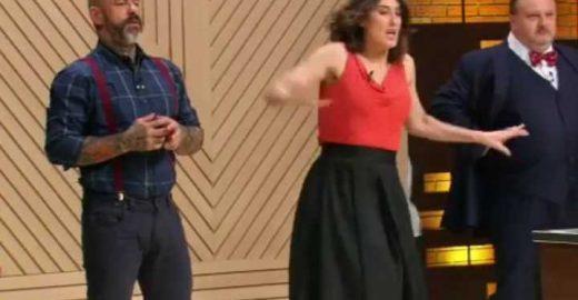 Paola Carosella leva tombo no 'Masterchef' e explica a queda