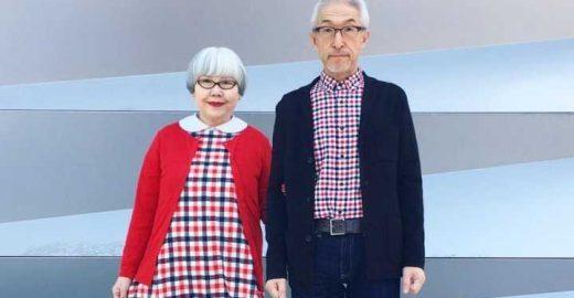 Casal fofinho do Japão combina roupas todos os dias há 37 anos