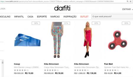 ef26d7014d68a Dafiti com até 90% OFF em roupas