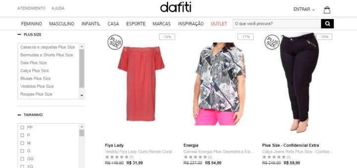 faeccde78 Crédito  VanessaDafiti vende peças plus size com até 79% de desconto