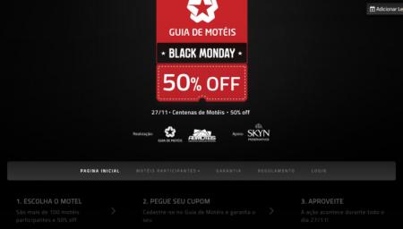 Motel Black Monday  50% OFF em diversos estabelecimentos no dia 27 de  novembro 690bbd5983c37