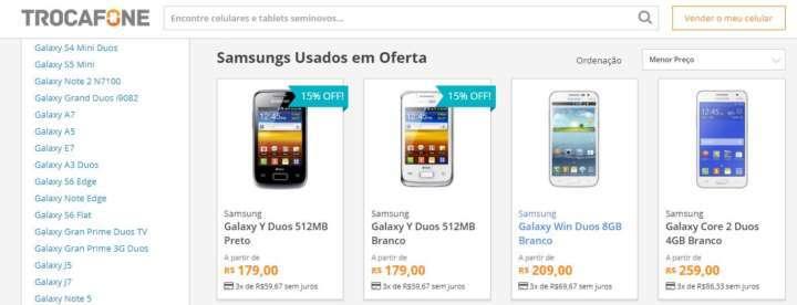 a8e667d75f4 Crédito  Lu AndreTrocafone tem aparelhos Samsung seminovos com garanti a a  partir de R  209